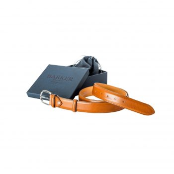 Barker Plain Cedar Calf Belt