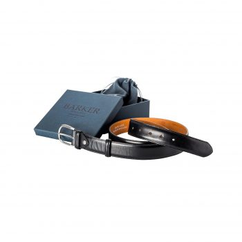 Plain Black Calf Belt